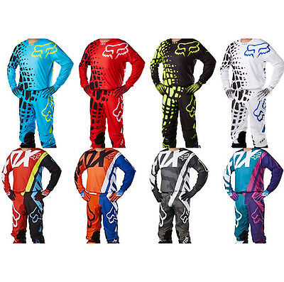 Fox 14 & 15 Jersey Pants Combos Gears 30-36 S-XL MX Motocross Sport Off Road