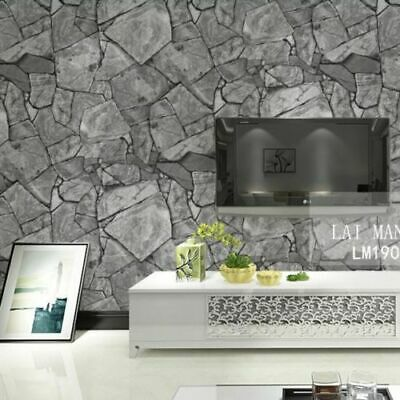 Rustic Mosaic Stone Slate Grey Brown Realistic Impressions Project Wallpaper 10M