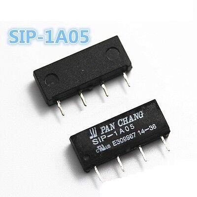 10 PCS 5V Relay SIP-1A05 Reed Switch Relay for PAN CHANG Relay 4PIN NEW