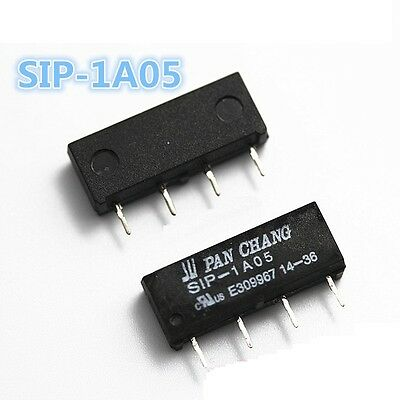 2PCS 5V Relay SIP-1A05 Reed Switch Relay for PAN CHANG Relay 4PIN NEW
