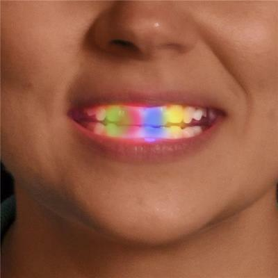 24 Multi-Color Led Light Up Mouth Piece Flashing Party Favors Show Gag Gift