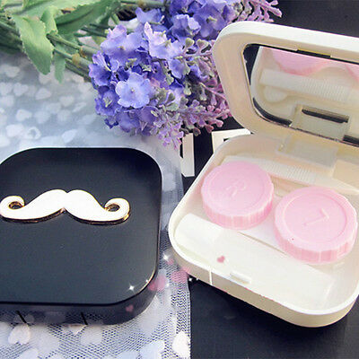 Outdoor Beard Appearance Contact Lens Case Box Container Holder High Quality