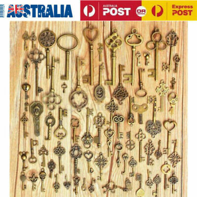 70 Assorted Old Antique Vintage Royal Keys Bronze Skeleton Key Collectibles