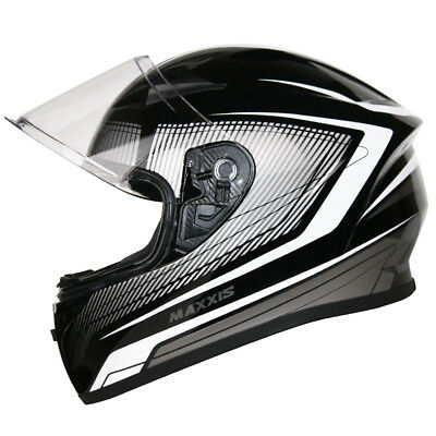 Leopard LEO-602 DVS Open Face Scooter Motorbike Motorcycle Helmet Black White