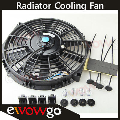 "10"" Universal Radiator Cooling Fan Push / Pull + Mounting Kit Straight Blade"