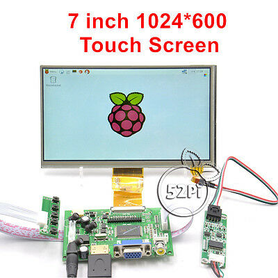 7 inch 1024*600 LCD Touch Screen Display for Raspberry Pi 4 B All Platform/ PC