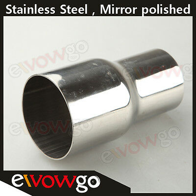 """70MM (2.75"""")ID To 57MM(2.25"""")OD SS Flared Exhaust Reducer Connector Pipe"""