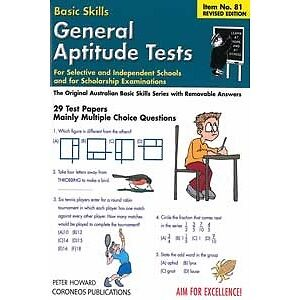 General Aptitude Tests for Selective Schools/Scholarship Exams...