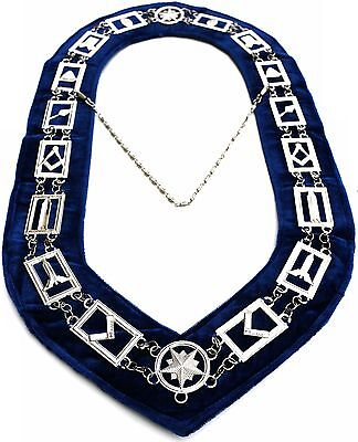 Masonic Regalia Master Mason Blue House Lodge Blue Backing Collar Dmr-400Sb