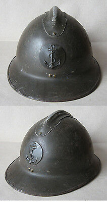 French Adrian Helmet Model 1926 M26 / Colonial Navy / Coloniale Marine
