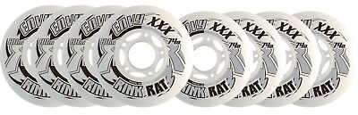 RINK RAT Wheels 80mm / 76mm HILO 74a ENVY XXX White/Gray Inline Indoor Hockey