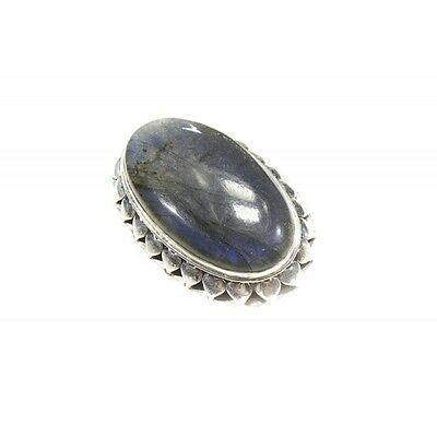 Bague argent 925 big daddy labradorite ovale 30x45 mm taille 58
