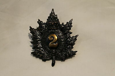 Victorian Canadian Queens Own Rifles of Canada Cap Badge 2