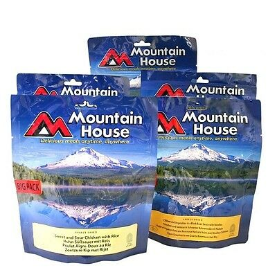 4 BIG PACKS - Mountain House freeze dried food pouches - long expiry up to 2022