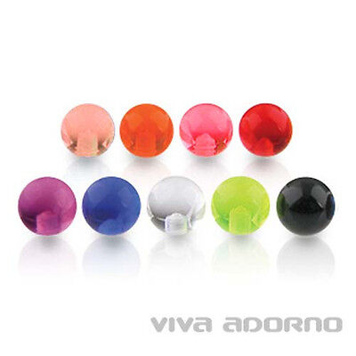 1.2 to 1, 6mm Piercing Screw-Ball Acrylic Spare Clasp ball Z339