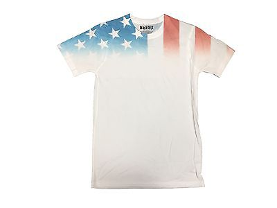 USA American Flag Old Glory Stars Stripes Faded Shoulders Men's T shirt