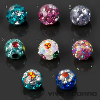 1,2 - 1,6mm Piercing Screw-ball Epoxy Multi-crystal Ferrido Spare Ball Z440