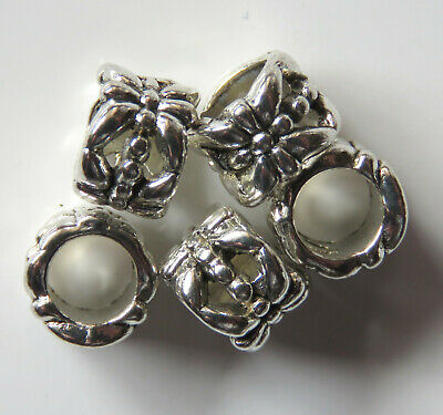 50pcs 6.25x7mm Metal Alloy Spacer Beads - Antique Silver