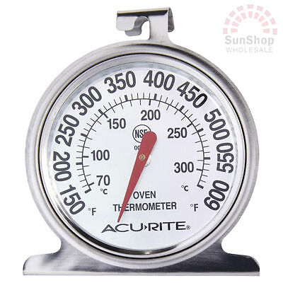 100% Genuine! ACURITE Stainless Steel Oven Dial Thermometer! RRP $19.95!