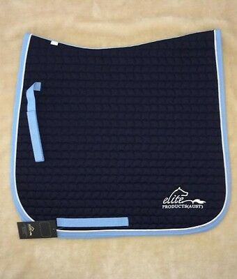 Cotton All Purpose General Dressage Saddle Pad Full Size Navy Horse Equestrian