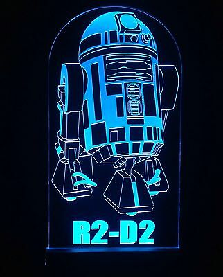 Star Wars R2D2 LED Sign + Remote Control. Collectables,Bar Sign,Man Cave,display