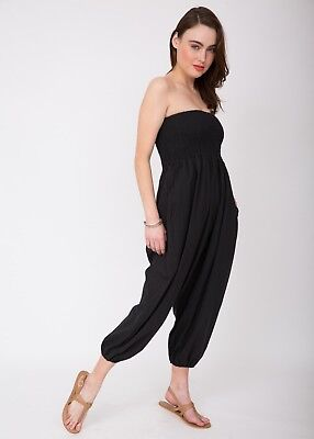 Harem Cotton Trouser Jumpsuit Genie Pants Yoga Ali Baba
