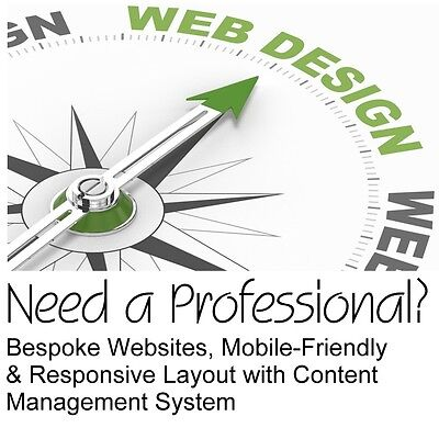 Bespoke Website / Professional Web Design, Fully Responsive mobile-friendly