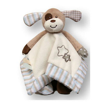 "Baby Comforter Marley Dog Blankie soft plush baby safe with rattle 10""/25cm NEW"