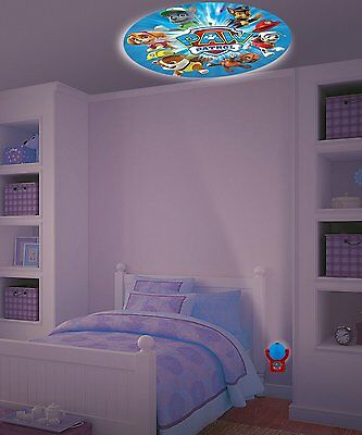 Nickelodeon Paw Patrol Projectables LED Plugin Night Light Auto Shut On & Off