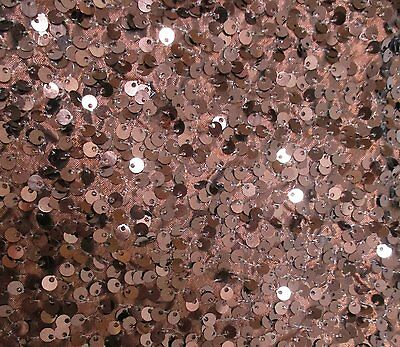Extra Large Mocha Sequin Round Table Cloth 132 Inches- Christmas Table (DA42)