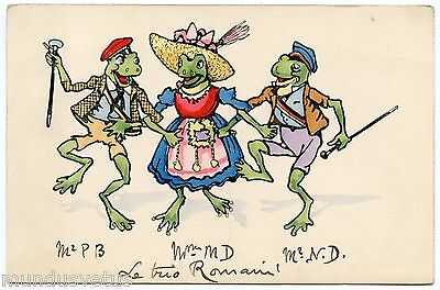 GRENOUILLES HUMANISéES. HUMANIZED FROGS.