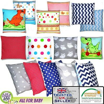 100% Cotton Baby Style Square Cushion INNERS + COVER Decor Seat Back Pillow case
