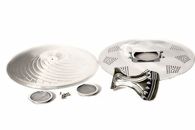 Chrome Biscuit Resonator Kit For Guitar