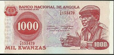 1979 National bank of angola 1000 mil kwanzas currency note paper money