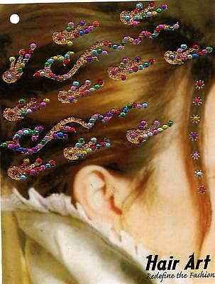 Haarschmuck Body Body Hair Haar Hand Sticker Schmuck Bollywood Indisch bridal