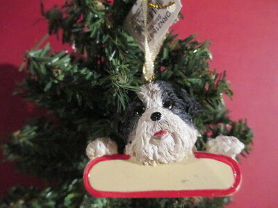 Shih Tzu ~ Black & White Puppy Cut ~   Ornament  # 87B