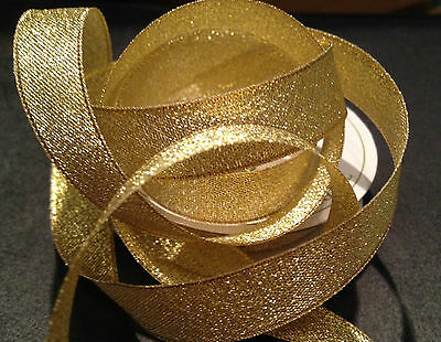 Sparkly gold metallic Christmas ribbon in 3, 6, 10 and 15mm rolls