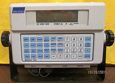 Tru-Test 703 Agricultural Weighing System Console & Mounting Bracket