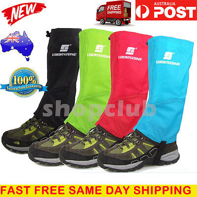 3 pairs Men's Outdoor Hiking Hunting Snow Snake Waterproof Boots Legging Gaiters
