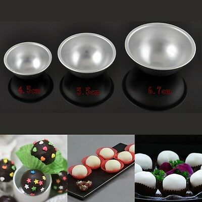 Hot Sell 3D Aluminum Sphere Bath Bomb Mould Cake Pan Tin Baking Pastry Ball Mold