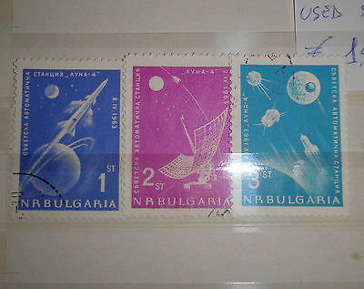 """Bulgaria 1963 """"space"""" Used Set (Cat.a)"""