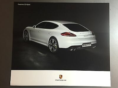 2016 Porsche Panamera S E-Hybrid Showroom Advertising Poster RARE Awesome