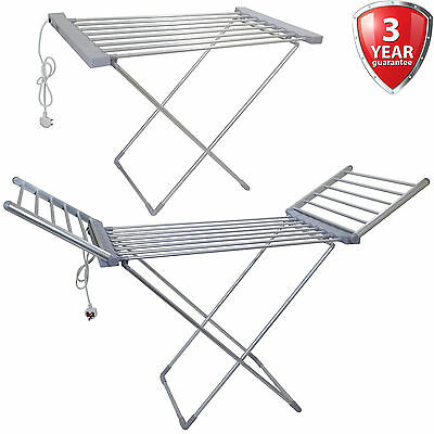 Electric Clothes Airer Dryer Indoor Horse Rack Laundry Folding Washing Dry Fold