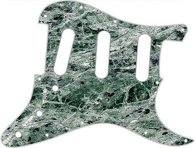 Stratocaster Pickguard Custom Fender SSS 11 Hole Guitar Pick Guard Green Marble