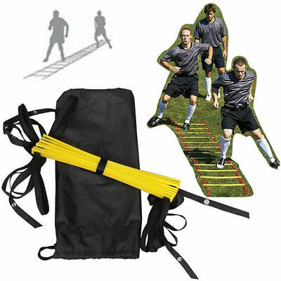 4M 8-rung Agility Ladder For Soccer Speed Football Fitness Feet Training Tool