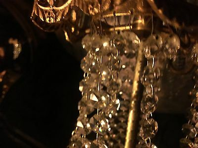 Beautiful Crystal Chandelier  Frenchy Looking Glistens Like Bacarat Glass