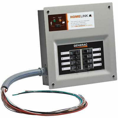 Generac 6852 - 30-Amp HomeLink Upgradeable Pre-Wired Manual Transfer Switch