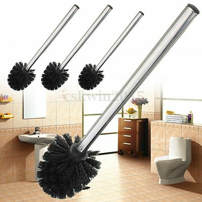 Replacement Stainless Steel WC Bathroom Cleaning Toilet Brush Black Head Holders