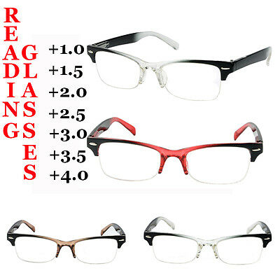 Mens Ladies Frame Magnifying Reading Glasses Spectacle Strengths 1.0~4.0