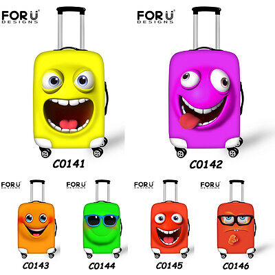 """Cute Clear Elastic Travel Luggage Cover Suitcase Protector 18''20"""" 24"""" 26"""" 28"""""""
